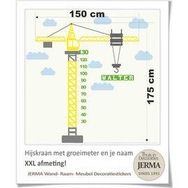 JERMA - Decoratie Groeimeter Hijskraan XXL