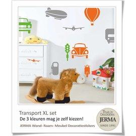 JERMA - Decoratie Auto muurstickers kinderkamer