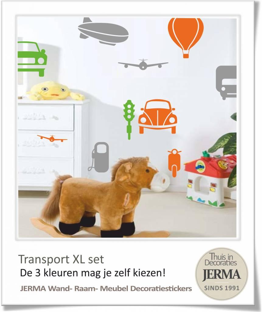 Decoratie Stickers Kinderkamer.Jerma Decoratie Auto Muurstickers Kinderkamer Transport Thema