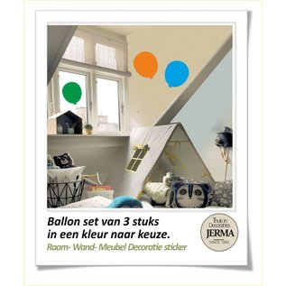 Raam-, Wand decoratiesticker raam stickers met Ballon kleurige set raamstickers met ballon op de muren kinderkamerdecoratie klevers