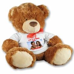 Grand ours en peluche personnalisé