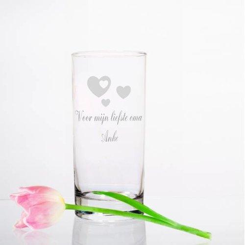 Vase en verre Vienne avec gravure