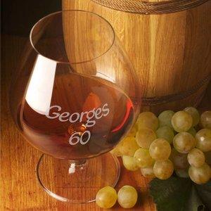 Verres à Cognac avec texte