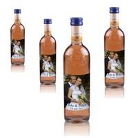 Bouteilles de Vin Rosé Grand Sud 25 cl avec étiquette photo