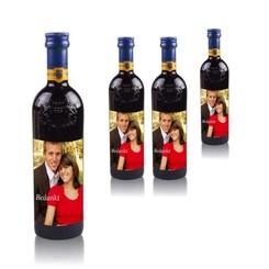 Flesjes Rode Wijn Grand Sud 25 cl met foto etiket