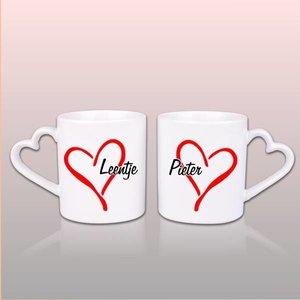 Duo Mugs d'amour avec nom