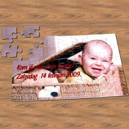 Puzzel met foto gepersonaliseerd