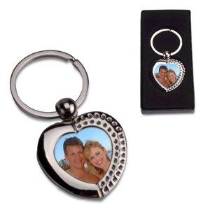 Porte-Clés en Métal Amour avec photo