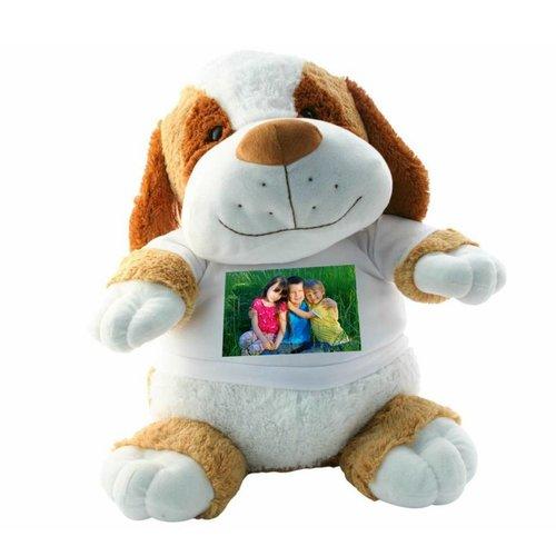 Grote Knuffel Hond met tekst en foto