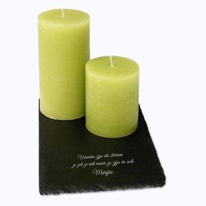 Set Bougies sur Ardoise avec gravure