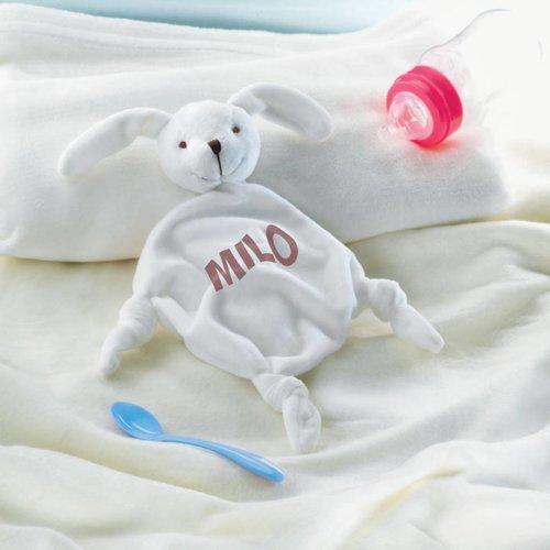 Doudou avec nom du bébé