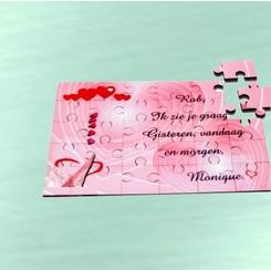 Puzzle Amor MDF 30 pièces avec texte