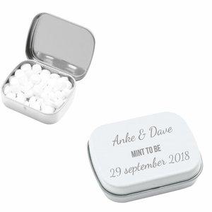 Boîte en Métal Bonbons à la menthe avec gravure