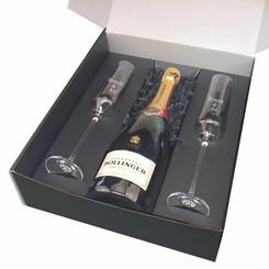 Coffret Cadeau Champagne Bollinger avec gravure