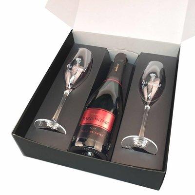 Coffret Cadeau Champagne Brialux avec gravure