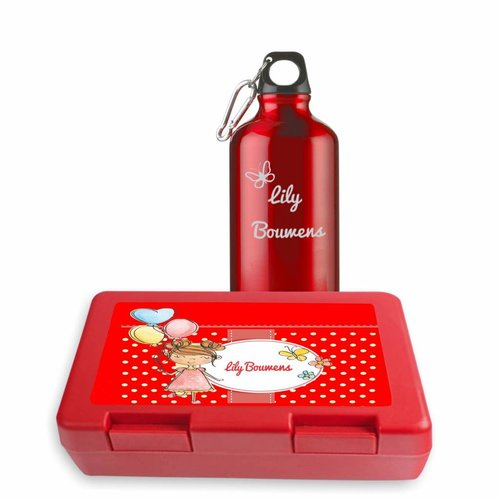 Gepersonaliseerde lunchbox en drinkfles