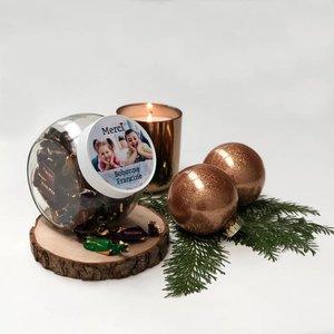 Bonbonnière Caramella avec étiquette personalisée