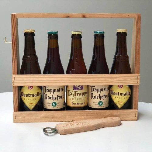 Cadeau de bière Trappiste avec ouvre-bouteille personnalisé
