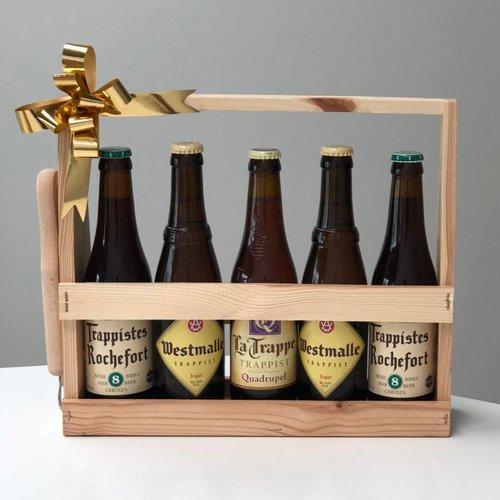 Biercadeau Trappist met gepersonaliseerde flesopener