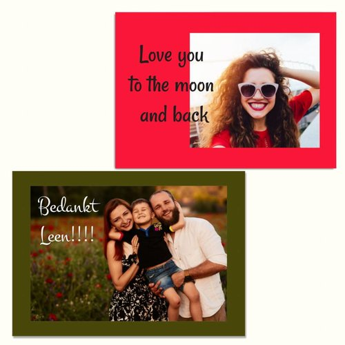 Une carte de vœux personnelle avec votre cadeau