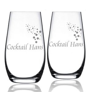 Verres à cocktail avec gravure