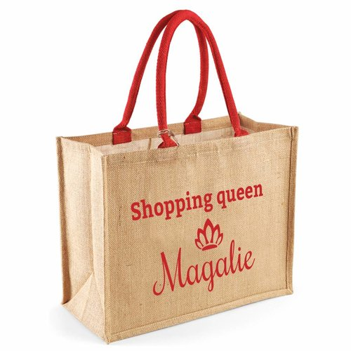 Sac shopping en jute personnalisé