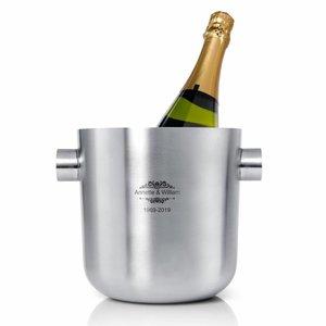 Champagnekoeler Festivo met gravering