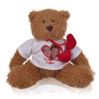 Ours peluche  'I love' avec nom