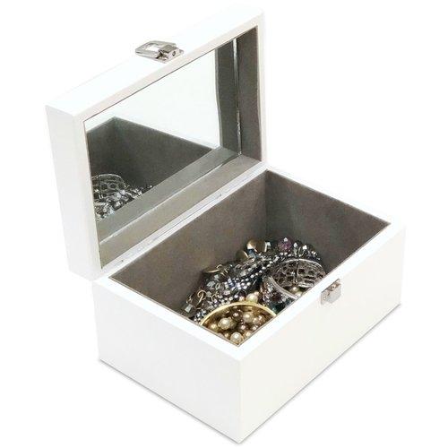 Gepersonaliseerde juwelenkist hout gelakt