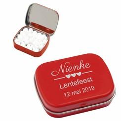 Pastilles à la menthe en boîte Métal avec gravure