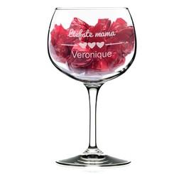 Gepersonaliseerd cocktailglas met pralines