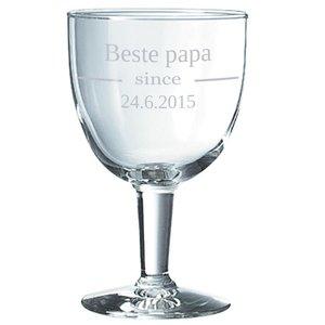 Bierglas Trappist met tekst