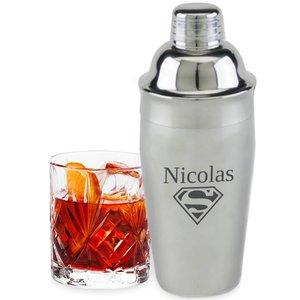 Shaker à Cocktail  avec gravure