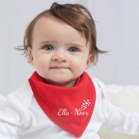 Bavoir Bandana Bébé avec nom