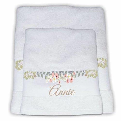 Handdoek gepersonaliseerd met naam