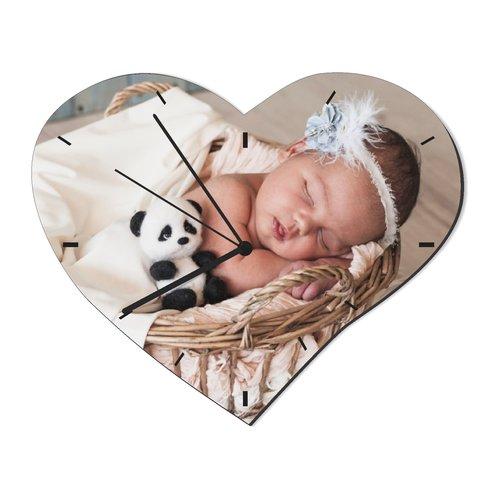 Horloge Murale Coeur avec photo