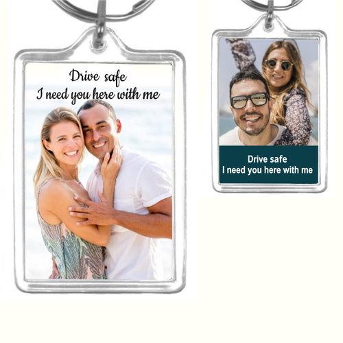 Porte-Clés Acrylique avec photo