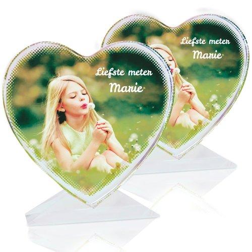 Coeur en verre personnalisée avec photo