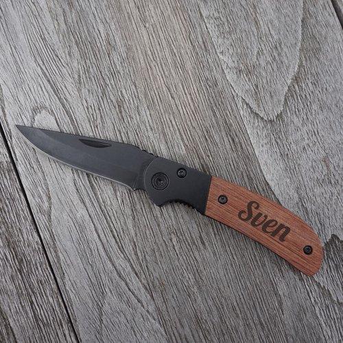 Couteau de poche Clamp gravée