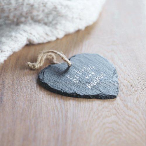 Cœur à suspendre ardoise personnalisé
