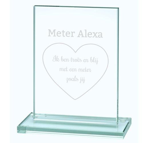 Trophée en verre avec gravure