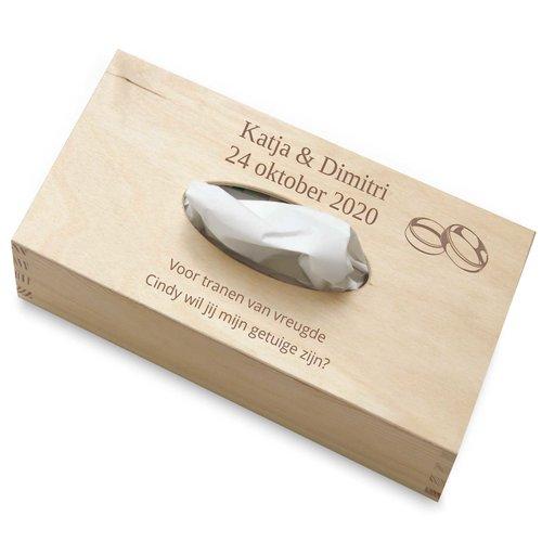 Boîte à mouchoirs en bois personnalisée