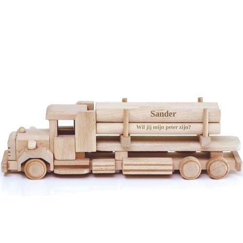 Beukenhouten vrachtwagen torpedoneus