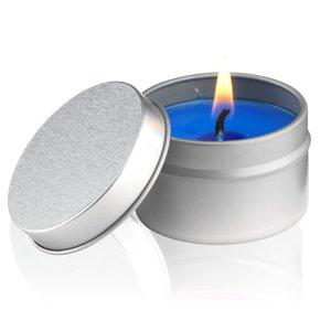 Bougie parfumée dans une boite en métal
