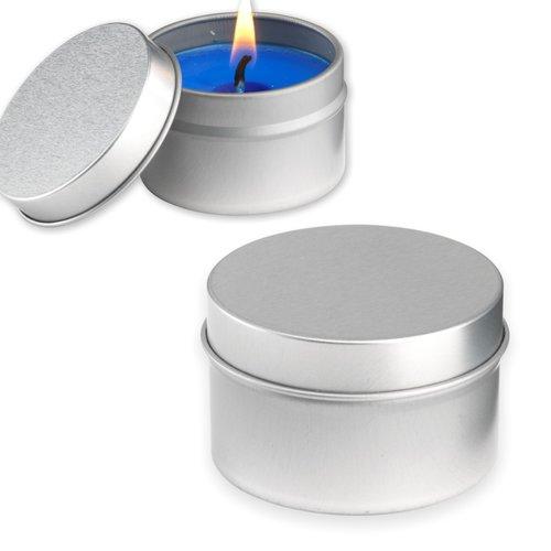 Bougies senteur lavande dans une boite en métal
