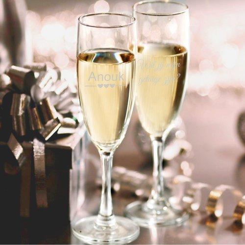 Flûte à Champagne Lana avec gravure