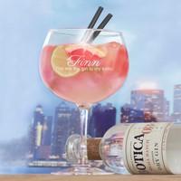 Gin Cadeau Set met gegraveerd glas