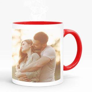 Mug Saint-Valentin Cambridge rouge avec photo