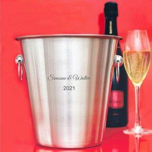 Champagnekoeler met gravering