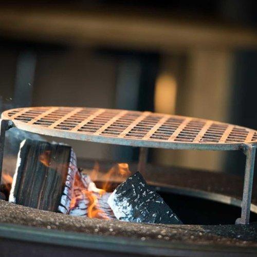 White Fire barbecue met gepersonaliseerd lederen short